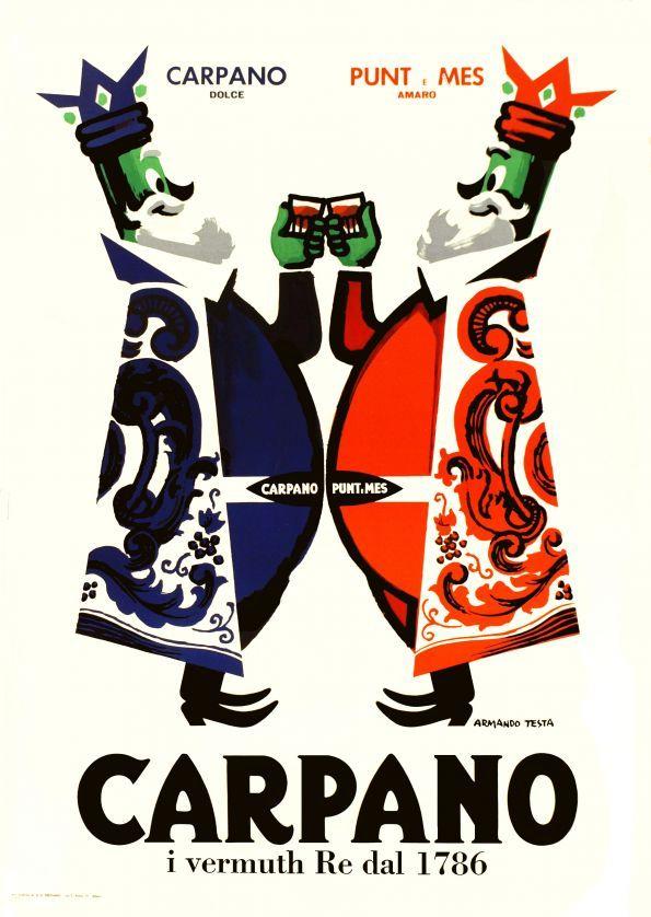 Armando Testa - Carpano, 1950 ca.