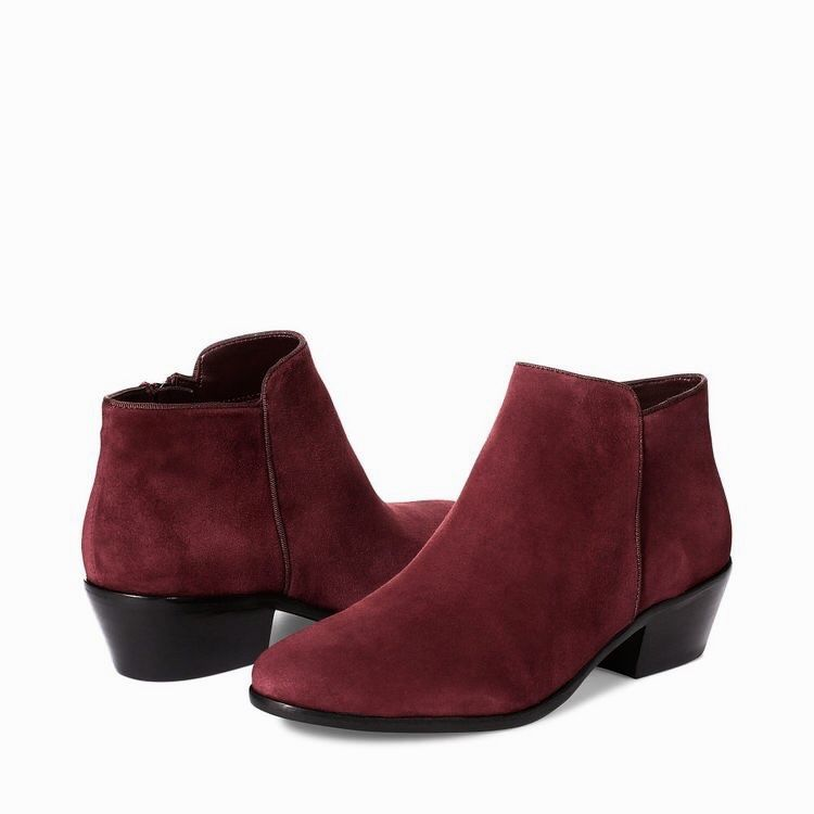 67676b29f50f04 Sam Edelman Petty Suede Ankle Booties in Burgundy