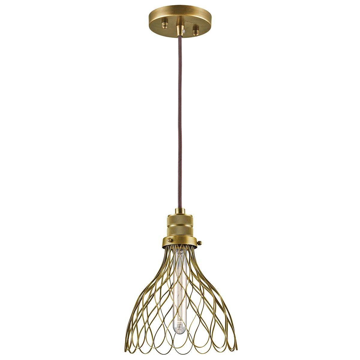 Kichler Devin Mini Pendant In Natural Brass Mini Pendant Lights