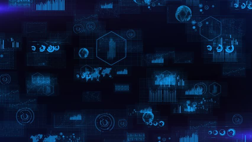 Data Analysis Backgrount Technology Background Stock Footage
