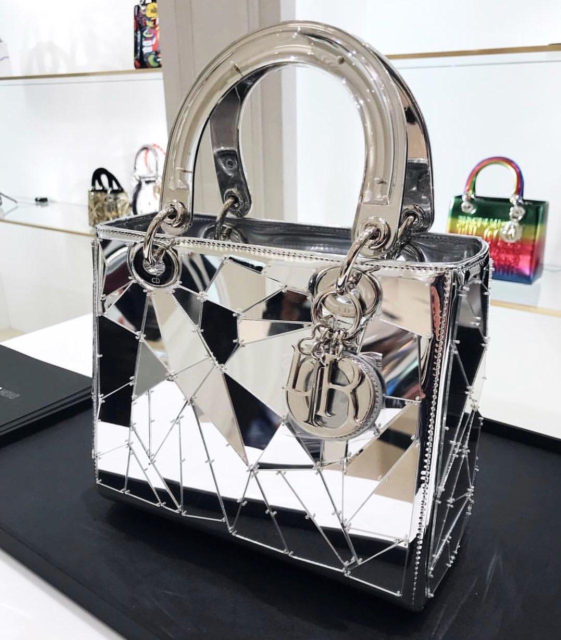 7e73ac6a63 Mirrored Lady Dior bag.