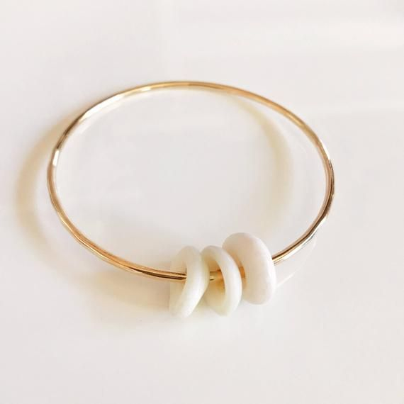 Bangle Hoku Puka Shells Beach Shell Bracelet Hawaiian