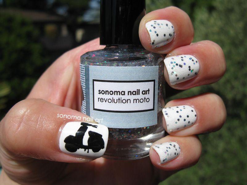 Sonoma Nail Art: Revolution Moto Scooter Nails