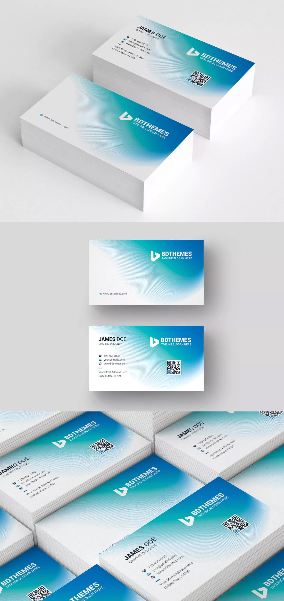business card template ai eps psd beautiful and modern looked business card for any type of business or corporate office its comes with turquoise blue