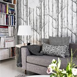 Birch Tree Wallpaper Inspiration Image Via Stadshem In English And Spanish