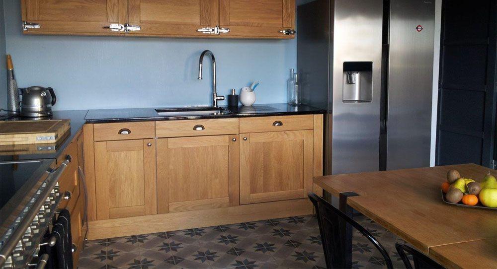 photo 07997410 photo cuisine bistrot 3 noir bois carreaux cuisines. Black Bedroom Furniture Sets. Home Design Ideas