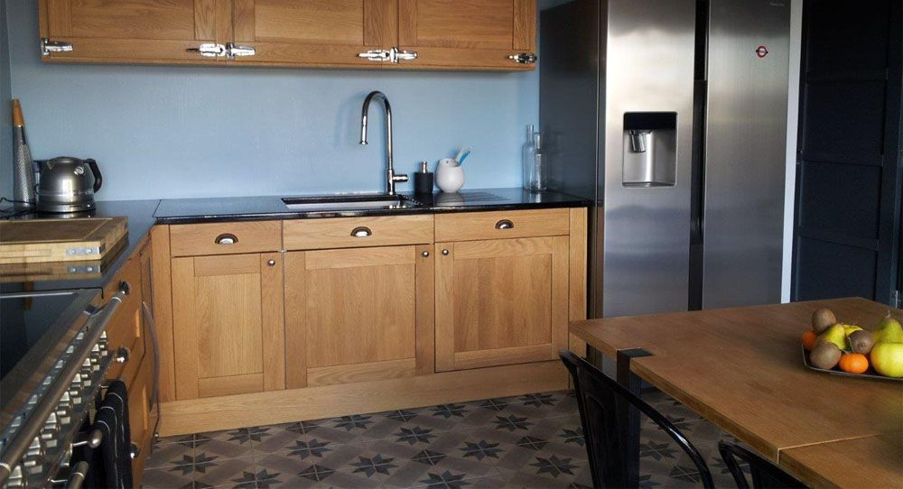 photo 07997410 photo cuisine bistrot 3 noir. Black Bedroom Furniture Sets. Home Design Ideas