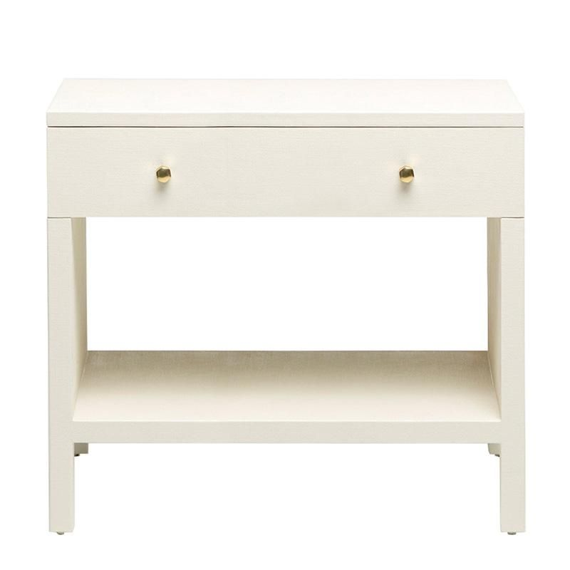 Milo Double Nightstand   Off White