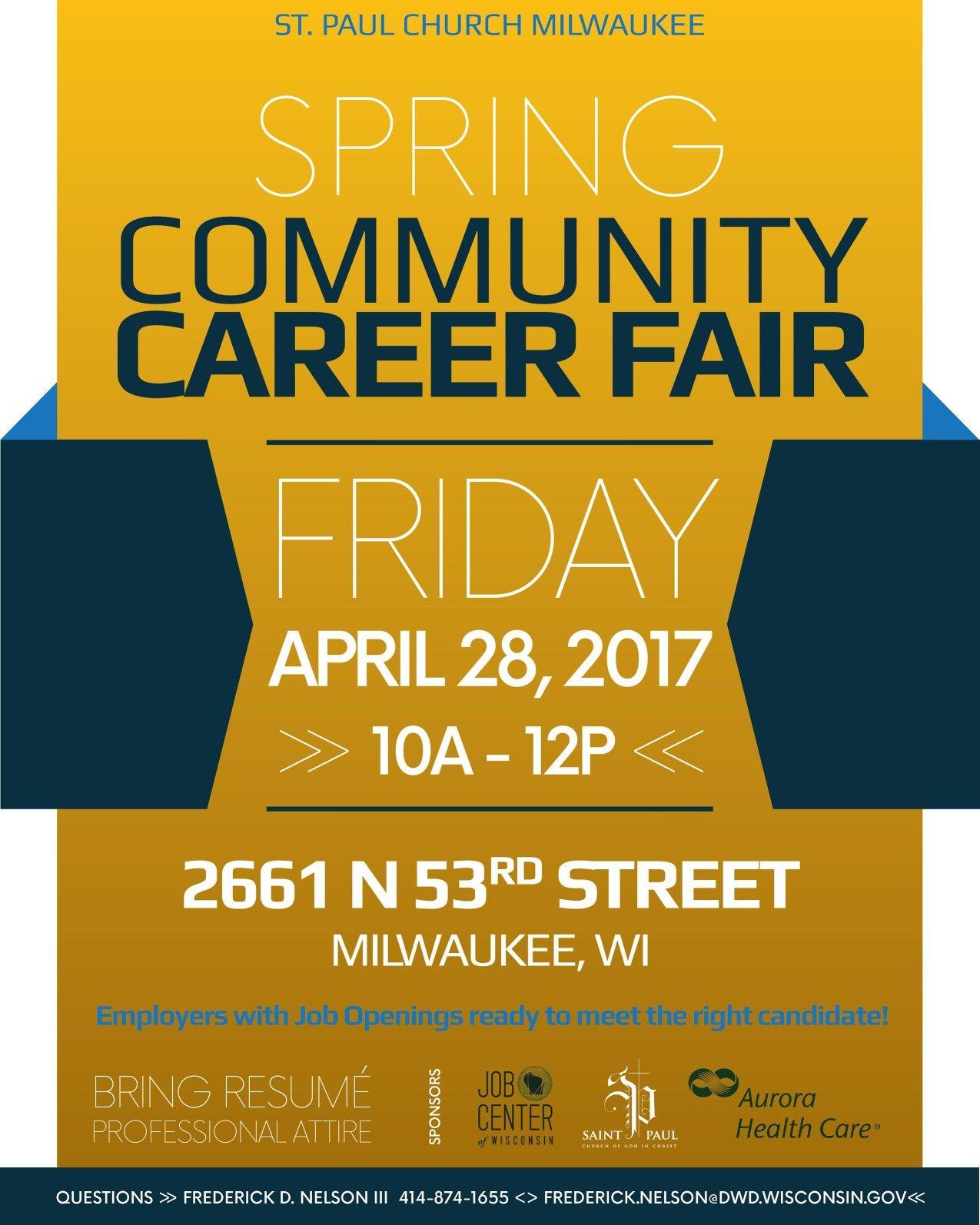 Job Fair This Friday, April 28th 10 am 12 pm St Paul