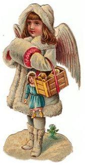 Glanzbilder - Victorian Die Cut - Victorian Scrap - Tube Victorienne - Glansbilleder - Plaatjes : Schneeengelchen