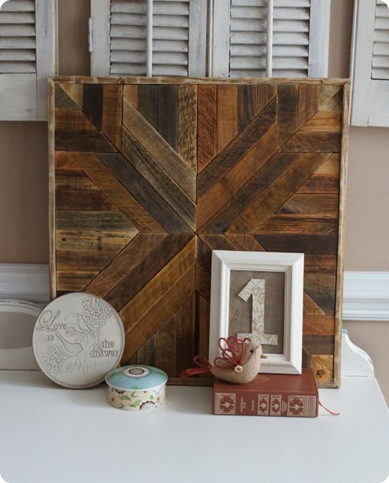 "Barn Wood Wall Art reclaimed wood"" quilt square wall art inspiredpottery barn"