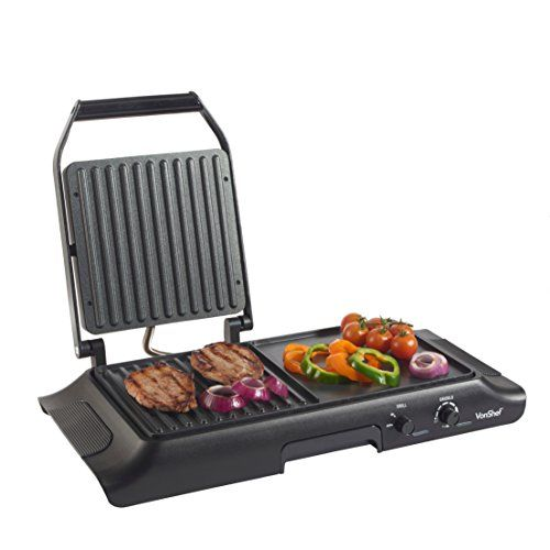 Hamilton Beach 38546 3 In 1 Electric Smokeless Indoor Grill Griddle Combo With Removable Plates Grilling Basic Kitchen Cooking Area