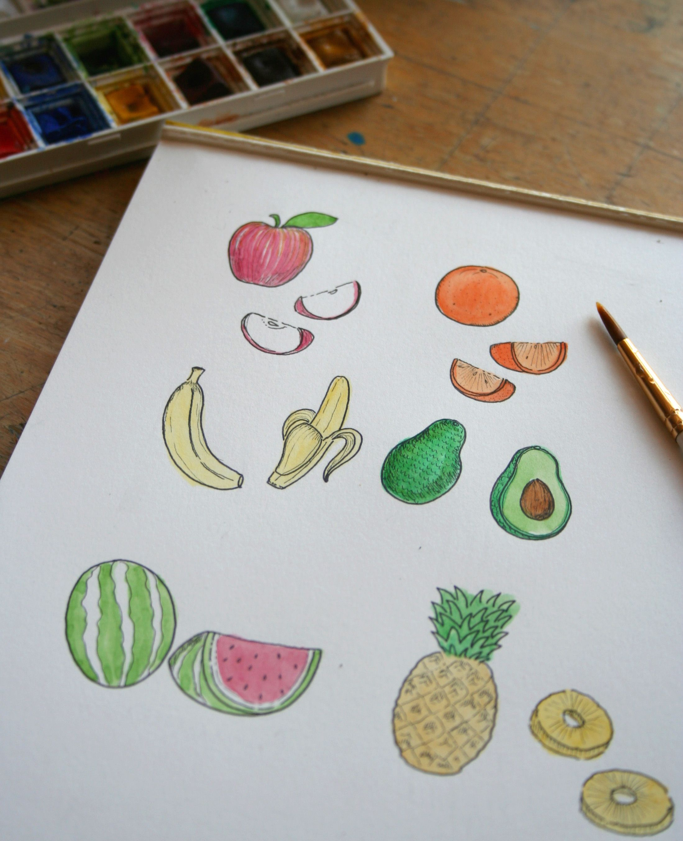 Fruits Of Your Labor How To Draw Fruit Sketches Pinterest