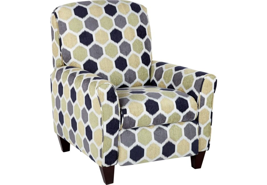 Enjoyable Bonita Springs Blue Accent Pushback Recliner Products In Machost Co Dining Chair Design Ideas Machostcouk