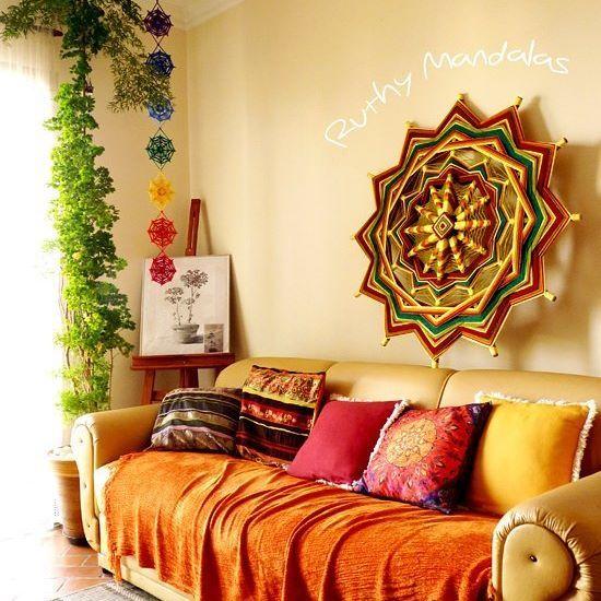 No aconchego do lar 💗  Home sweet home 💕    #mandalas #homesweethome #color #aconchego #hogardulcehogar #manualidades #equilibrio #zen #artesanato #feitoamao #cor