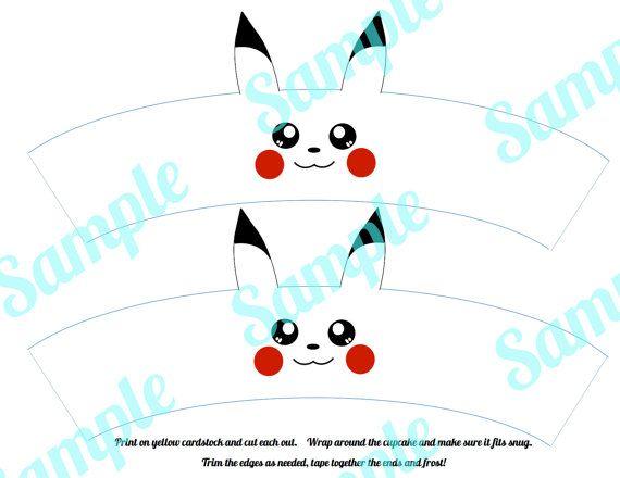 Pokemon Pikachu Cupcake Wrer Holder By Fancyandfunfamily