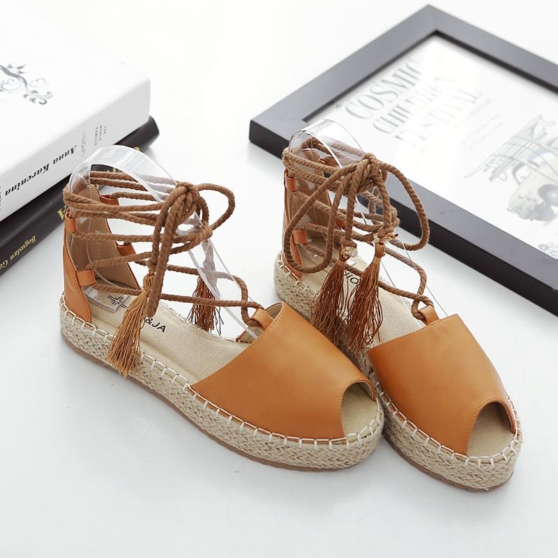 28.20$  Watch now - http://alif5i.shopchina.info/go.php?t=32809105756 - 2017 Women Tassel Loafers Espadrilles Slip On Slipony Gladiator Flats Platform Shoes Lace Up Brand Designer Canvas Espadrilles 28.20$ #buymethat