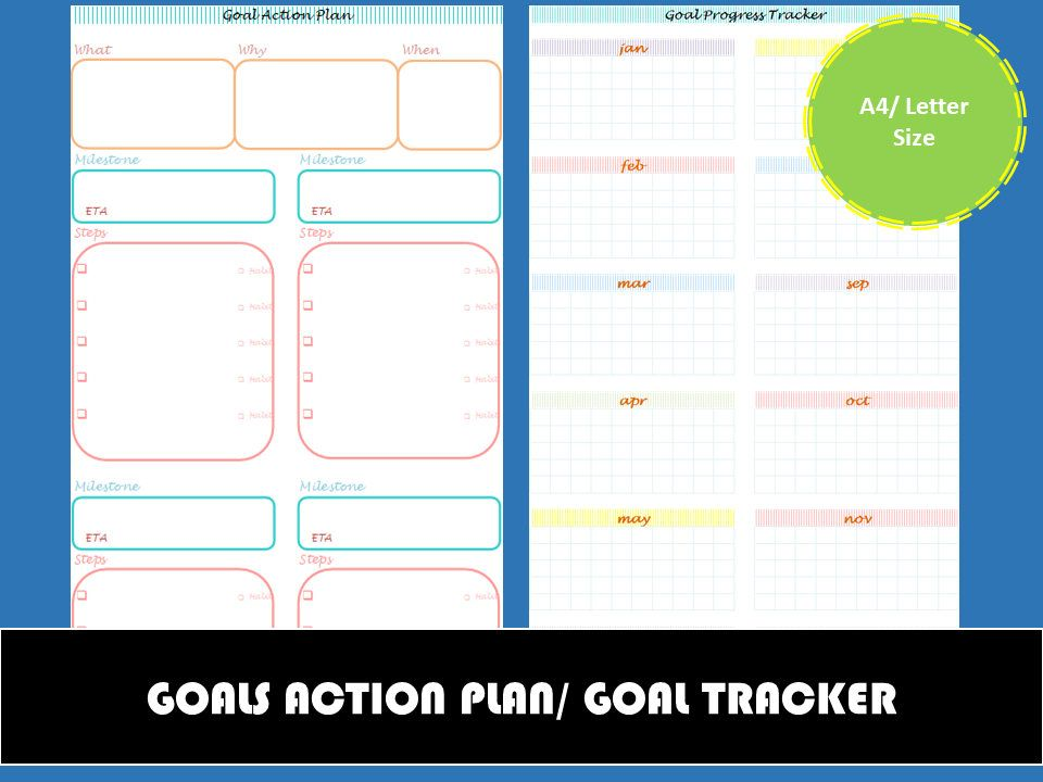 Goal Action Plan Printable Goal Tracker Goal Setting Worksheet - action plan work sheet