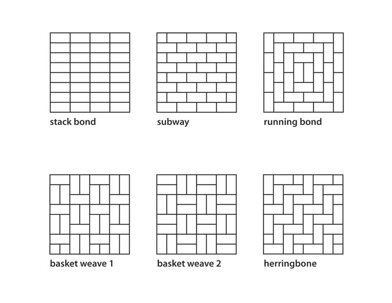 Floor Tile Patterns Plan There Are Many Tile Patterns From Basketweave To Herringbone