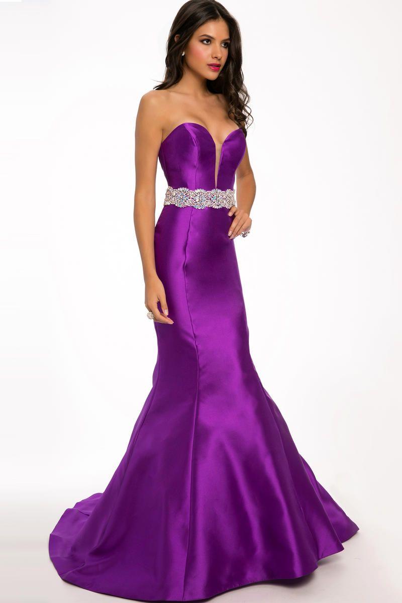 Stunning satin prom dress...love the colour though | Elegant Prom ...