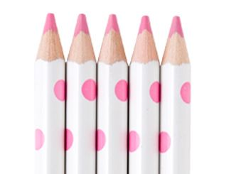Dotty pink pencils...for those who love polka dots...this sight has a lot of dots!