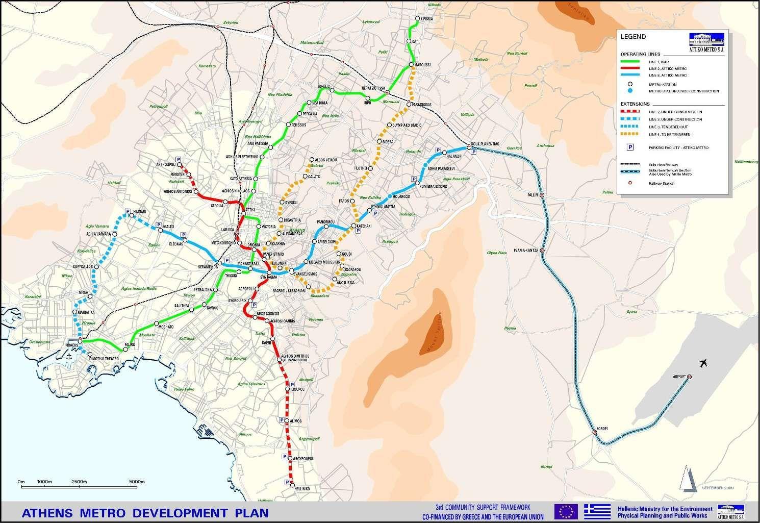 Harta Transportului Public Din Atena Grecia Portal Turism