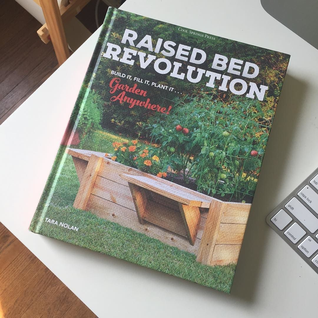Yay! The book by my pal @tara_e came in the mail yesterday!!! Congrats Tara! I can't wait to read it!  #raisedbedrevolution #gardening by helenrac