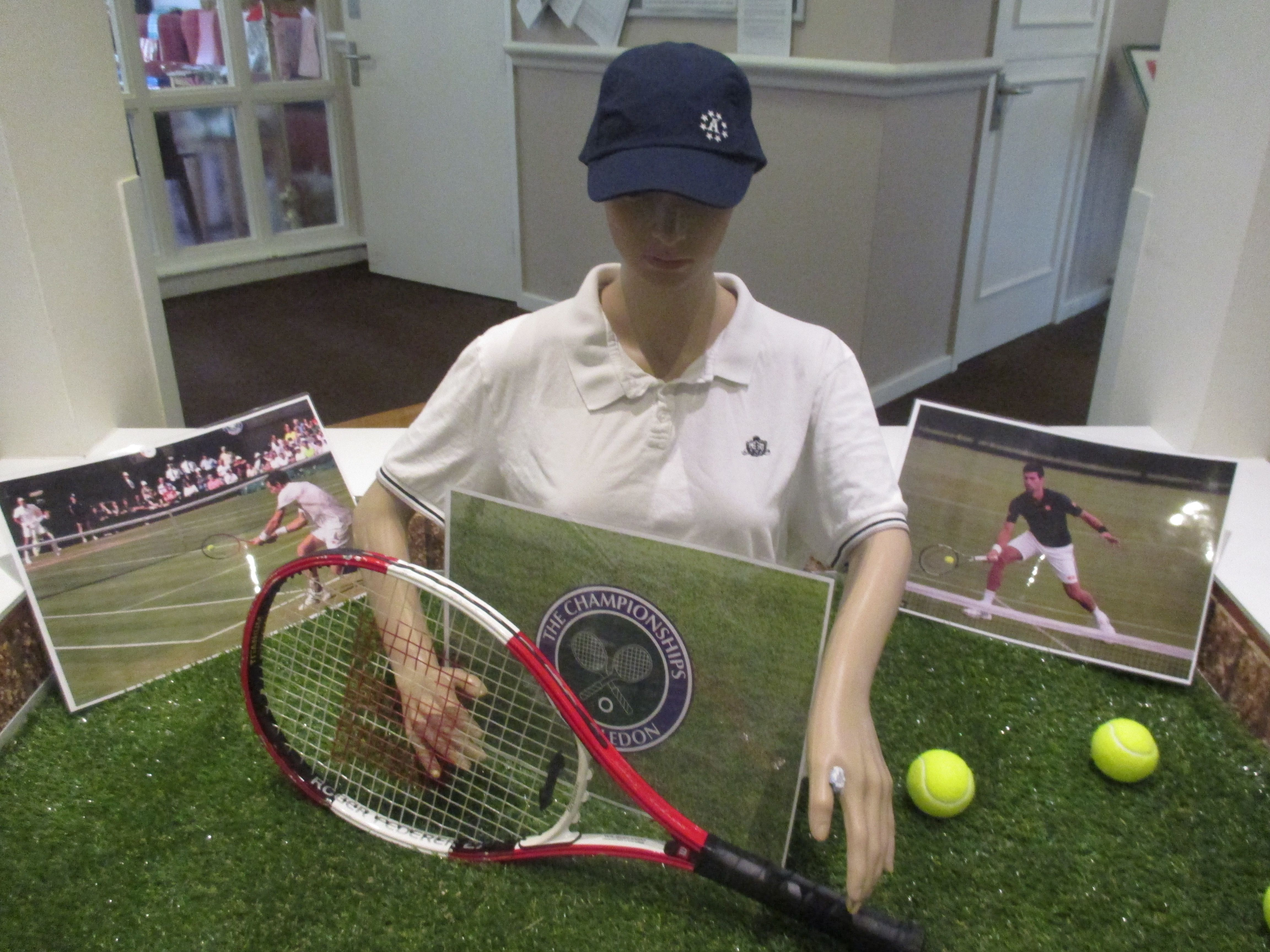 Serving up Wimbledon at Birch Green  Many of our #residents are sports fans at #BirchGreen, and now #England is no longer in the #Euros we updated our central display to another favourite pastime – #tennis.  With #Wimbledon now under way it was a great opportunity to use our imaginations and find a number of tennis-related items including a #racket, #balls and clothing, along with a blanket and 'picnic.'  We can't wait to cheer on our favourites as the famous tennis competition continues.