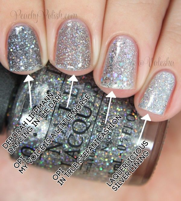 Opi My Voice Is A Little Norse Comparison Peachy Polish Silver Nailsglitter