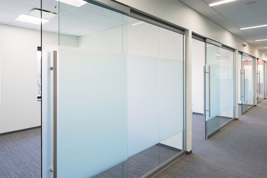 S Glass Office Walls With Softclosing Sliding Glass Door Hardware
