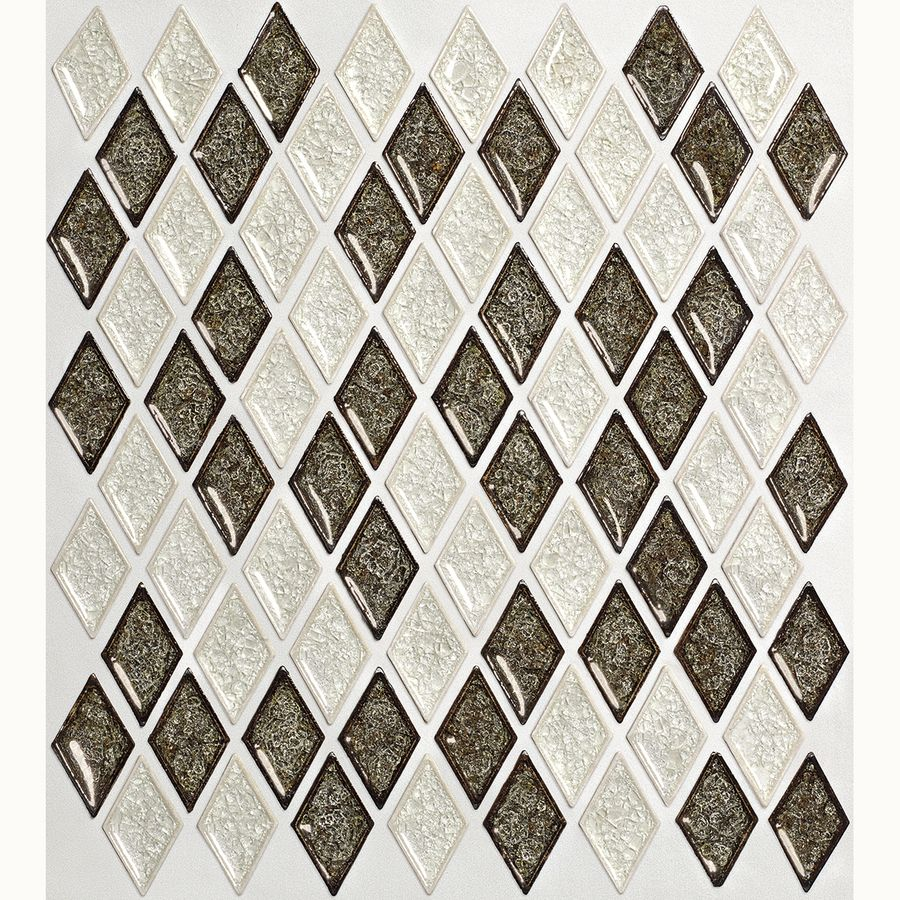 Shop allen roth harlequin glass mosaic indooroutdoor wall tile shop allen roth harlequin glass mosaic indooroutdoor wall tile common 12 dailygadgetfo Image collections
