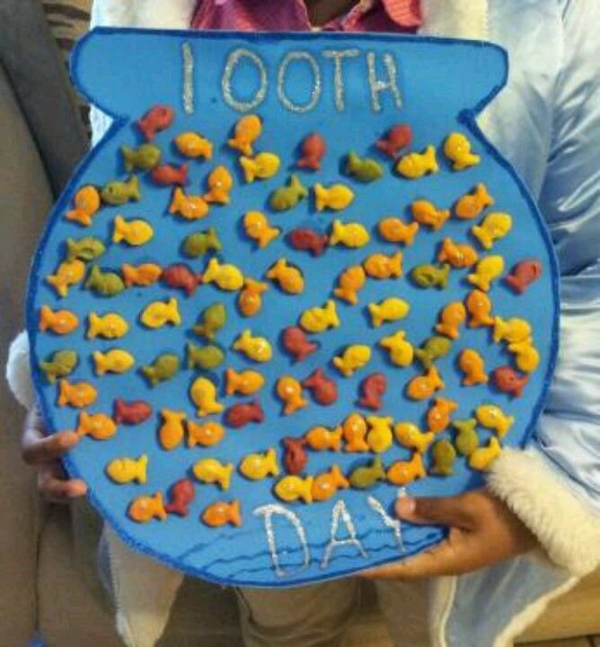 Celebrating The 100th Day Of School Using 100 Goldfish In