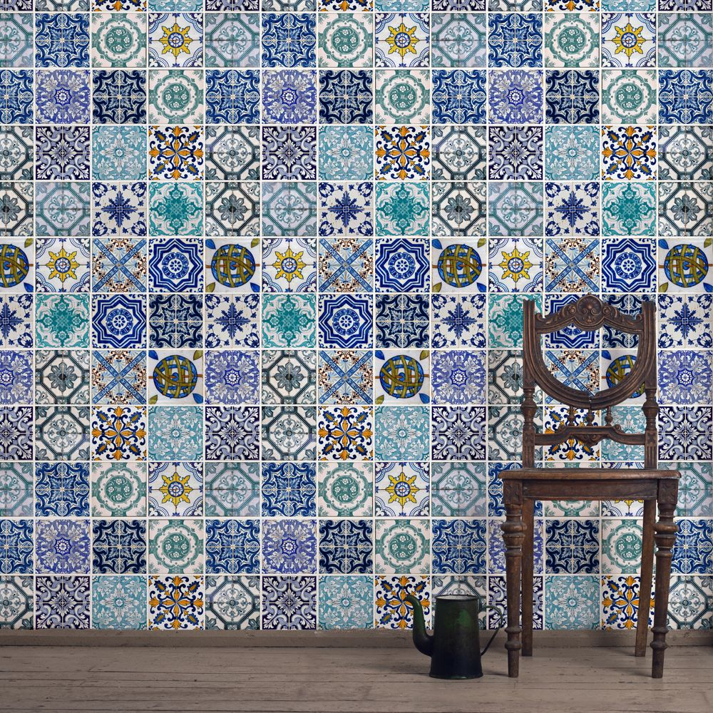 Lisbon Tile Wallpaper | Places & spaces | Pinterest | Wallpaper ...
