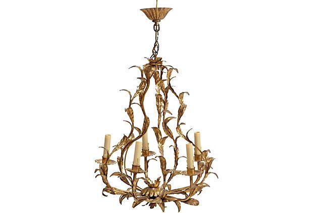 Gold Leaf Rococo Style Chandelier On Onekingslane 1 189 2150