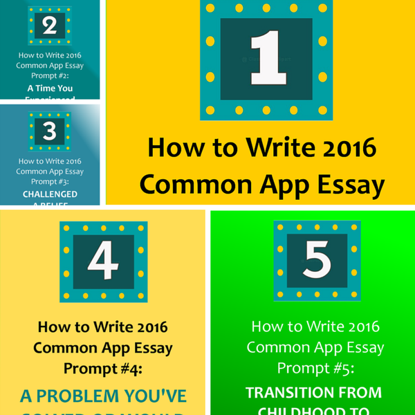 How to Write Common Application Essay Personal Statement 1
