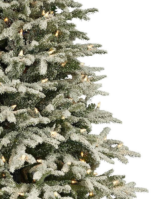 narrow artificial christmas trees small frosted fraser fir narrow artificial christmas tree balsam hill