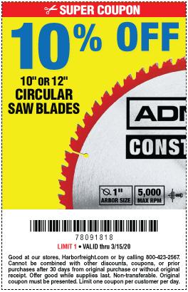 10 Off 10 Or 12 Circular Saw Blades Through 3 15 20 In 2020 Circular Saw Blades Drill Bit Sets Circular Saw