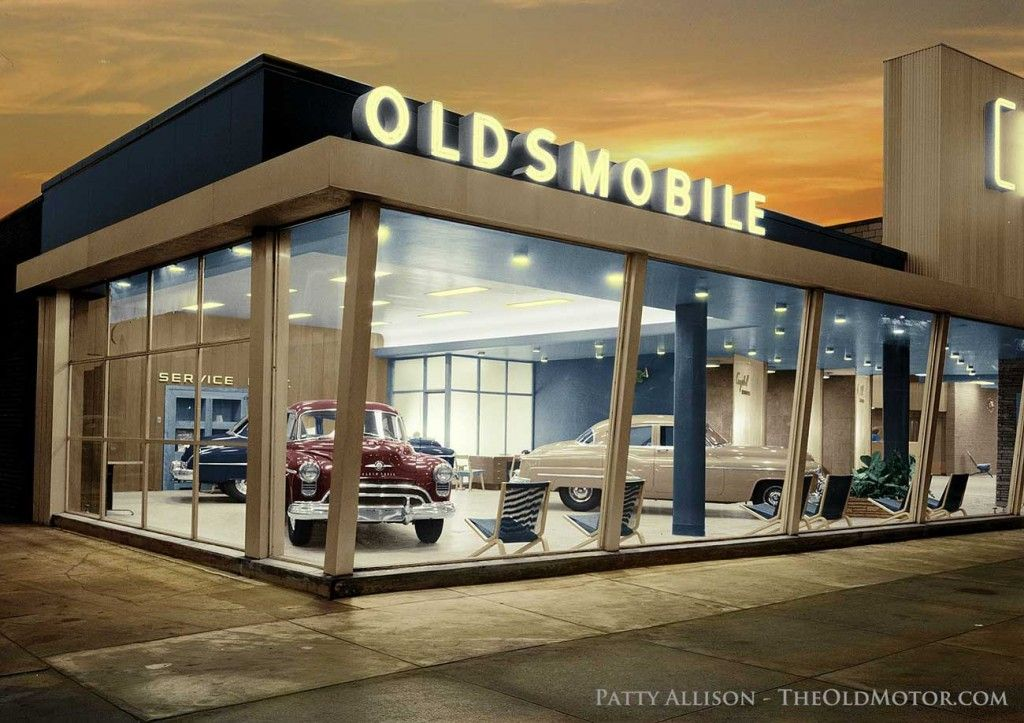 Oldsmobile dealership In the glory years! Car