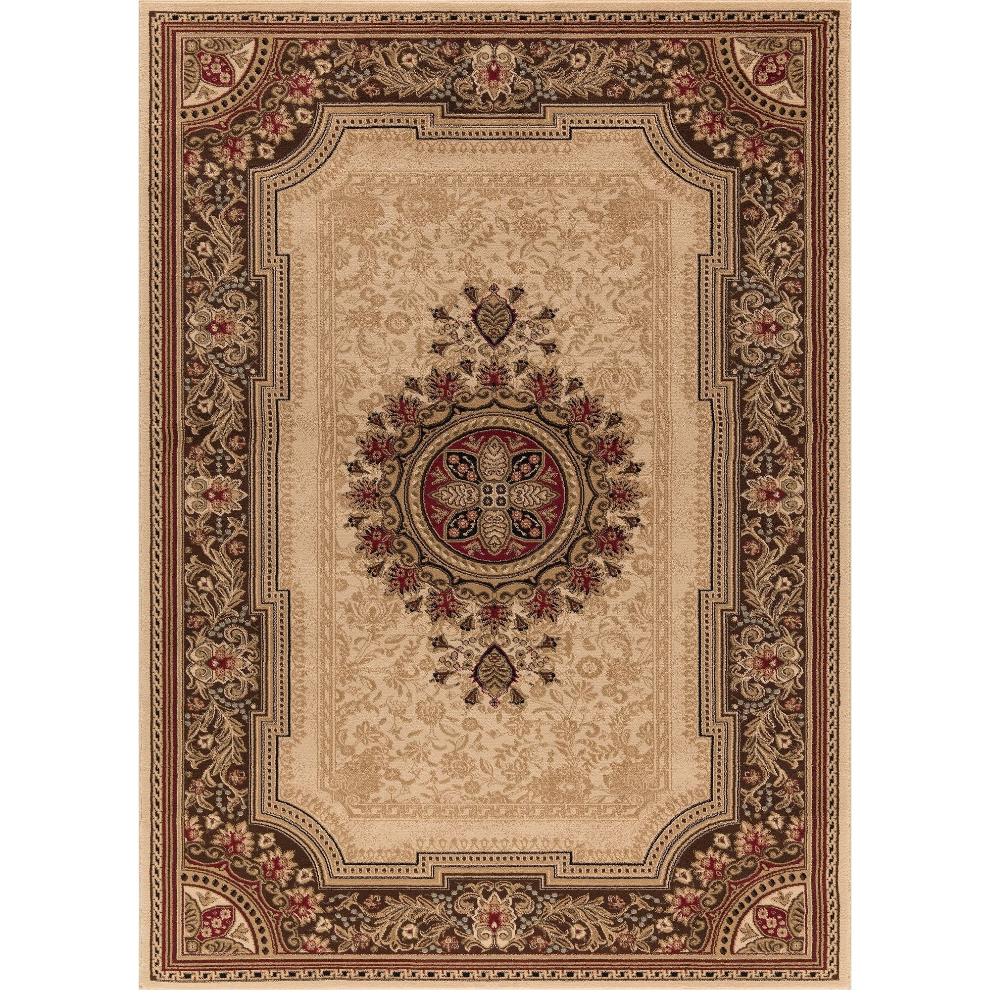 Concord Global Ankara Manor Ivory Rug 6 7 X 9 6 Multi Color