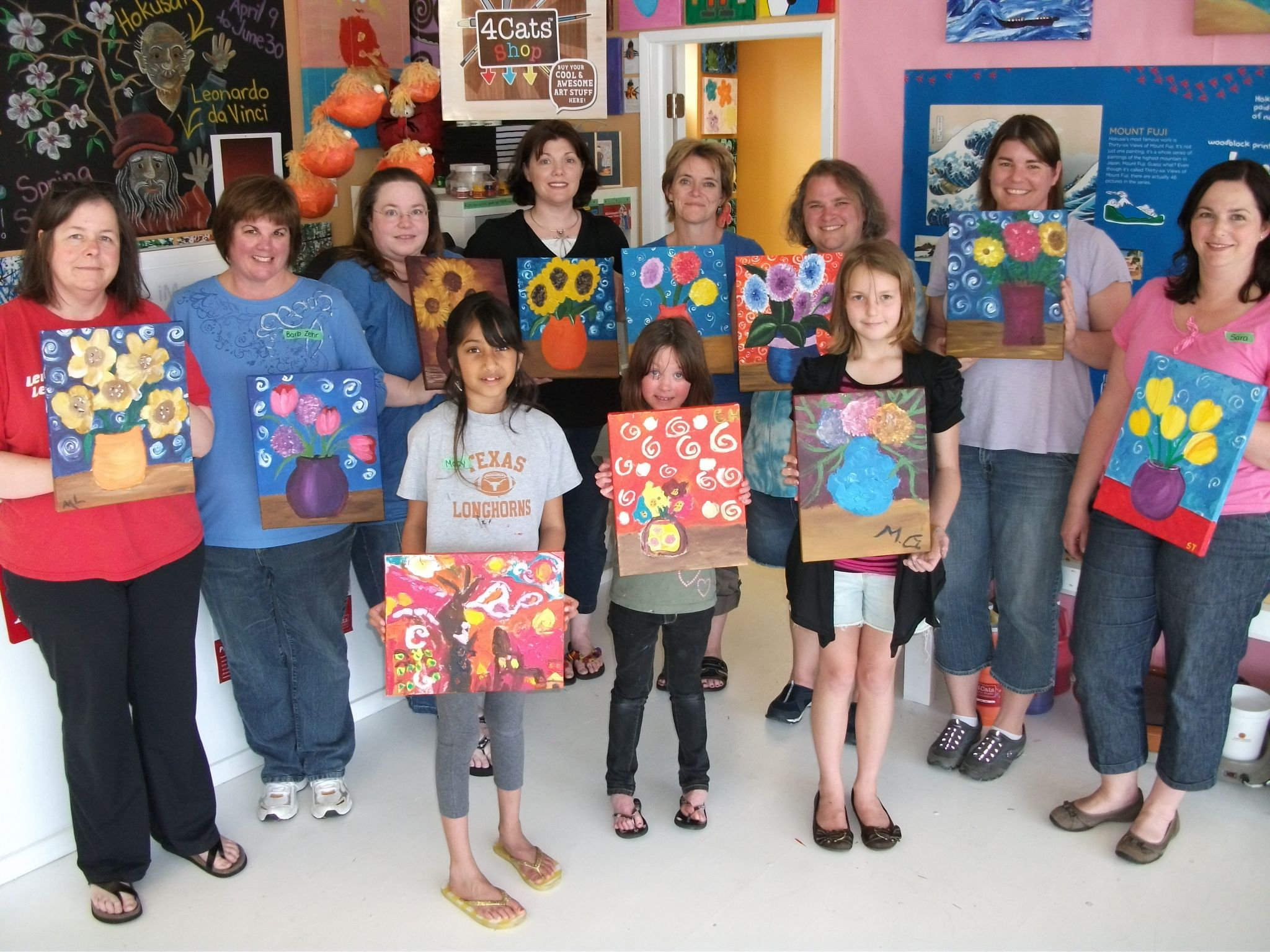 A painting party! You can have an art exhibit FUNdraiser afterward, or even sell your masterpieces!