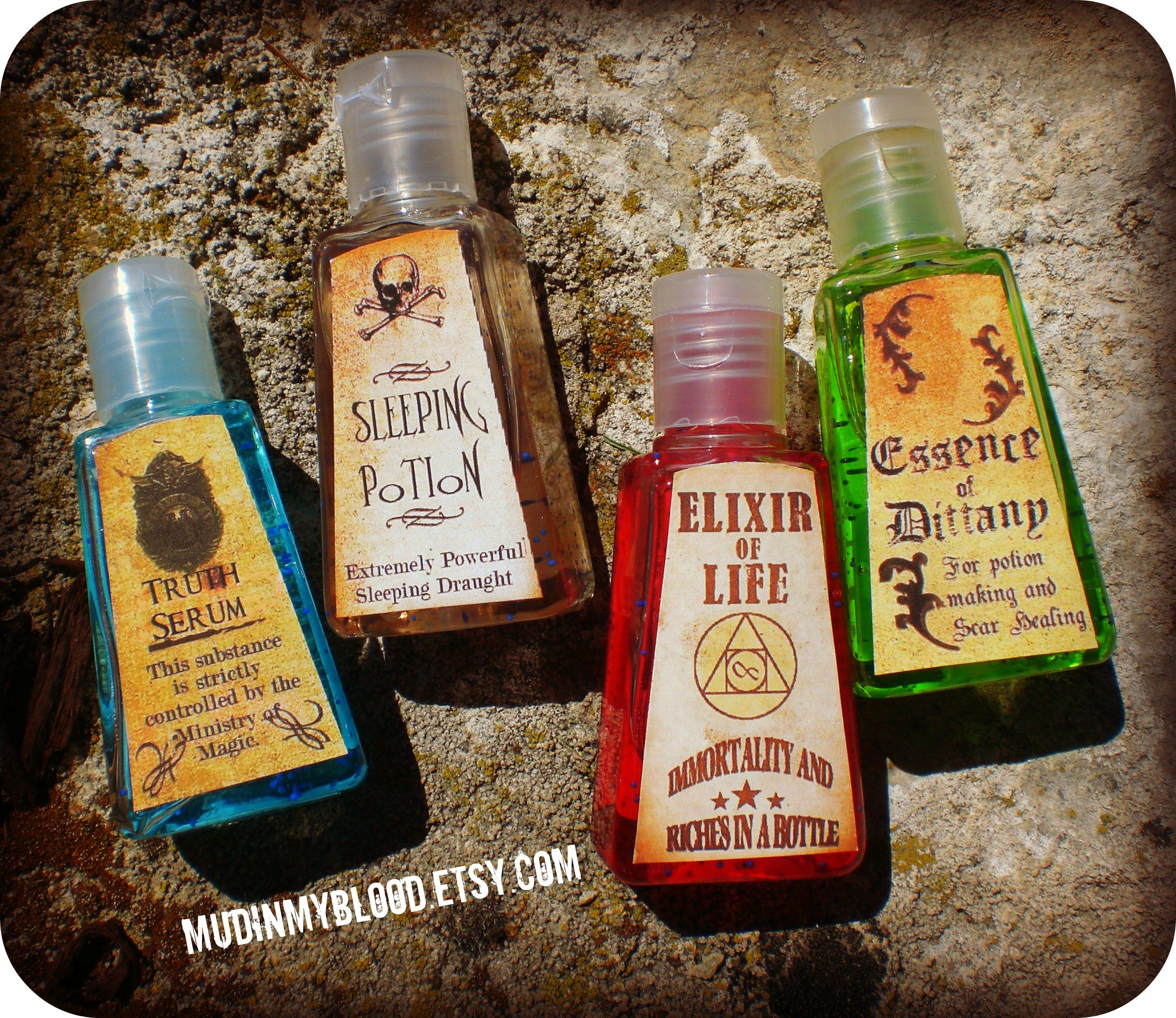 Twelve Harry Potter Inspired Pocket Potion Hand Sanitizers