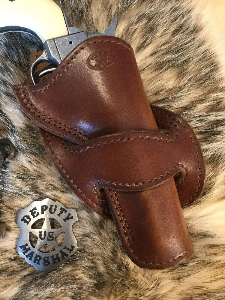 Cross Draw Single Action Western Revolver Holster, 5 1/2