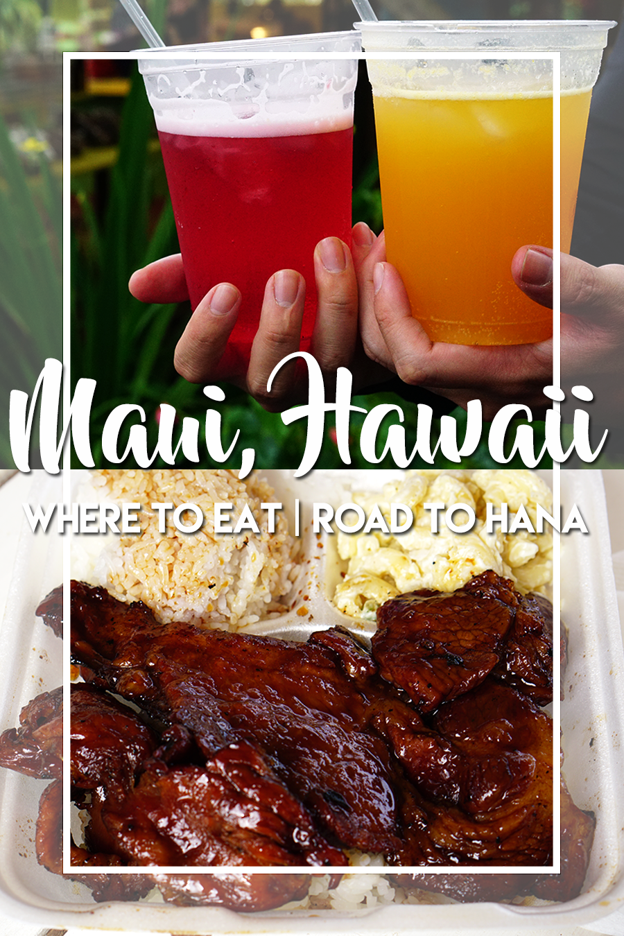 Restaurants are scarce on Road to Hana. There are several food trucks and street food along the way.    After hiking at Pipiwai Trail and taking a dip in the Seven Sacred Pools (Ohe'o Gulch), just a couple miles out of Haleakala National Park we indulged ourselves with some Braddah Huts BBQ Grill. The BBQ pork and chicken dishes with a side of mac salad were delicious!