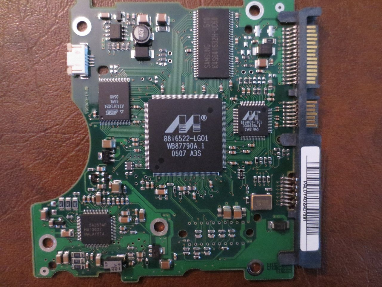Samsung Sp1614c Reva Fw100 32 Bf41 00069a 160 Hard Drive Circuit Board Pcb Boards 160gb