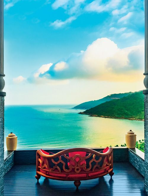 The InterContinental Danang Sun Peninsula Resort, the foothills of Son Tra Mountain on the coast of central Vietnam