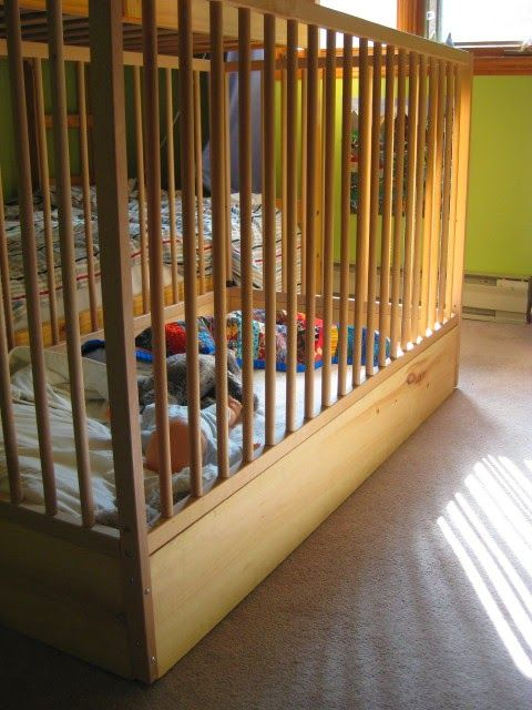 Baby Toddler Climbing Out Of The Crib Yet Not Ready For A Toddler Bed Drop The Bottom Out Of Your Crib To Make Toddler Climbing Toddler Crib Toddler Proofing