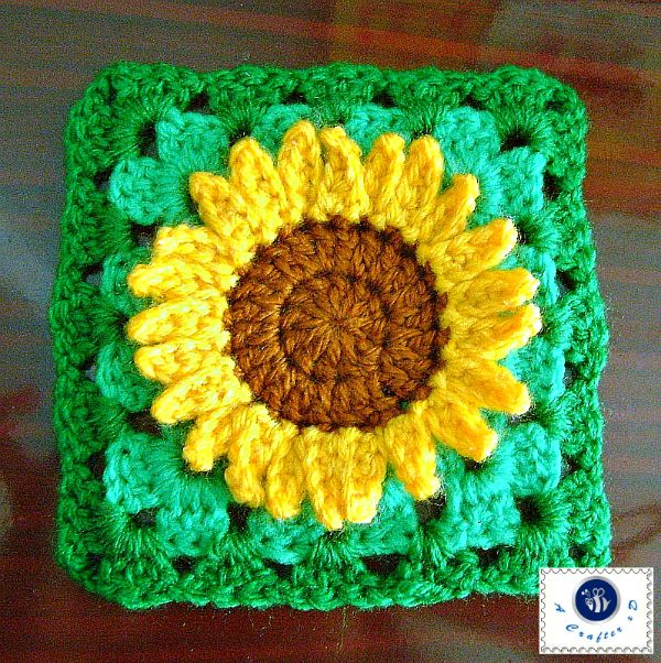 crochet sunflower granny square | DIY & Crafts that I love ...