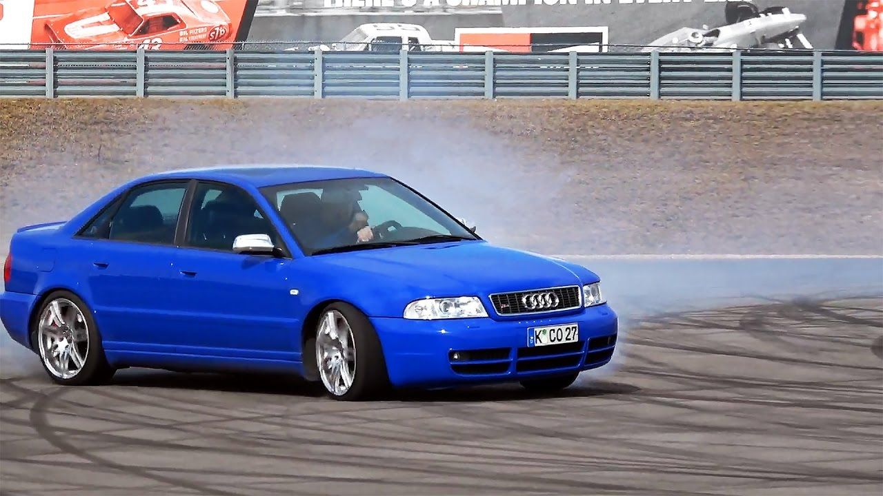 Got the s4 a little sideways on the skidpad yesterday audi