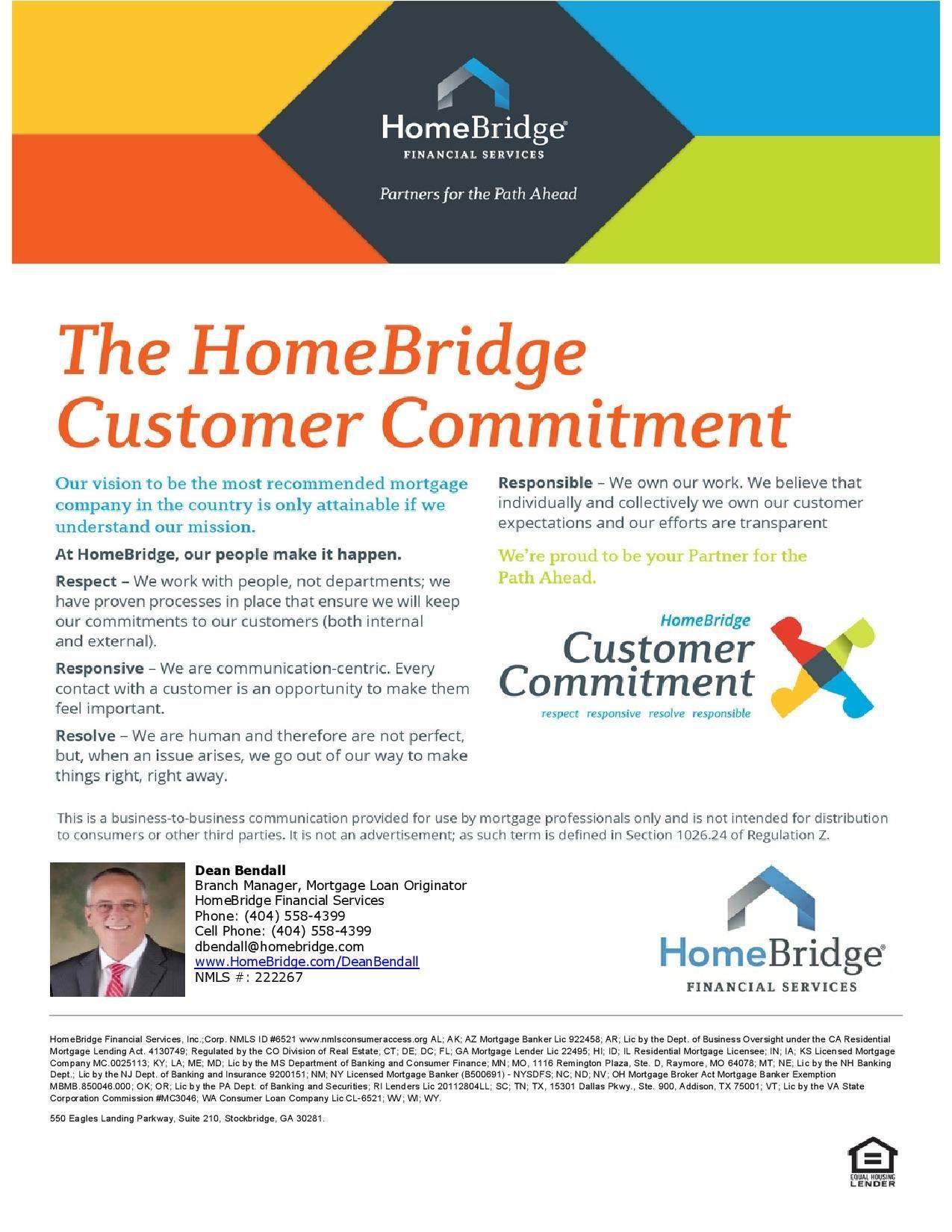 HomeBridge Financial Services, Inc. Dean Bendall, Mortgage