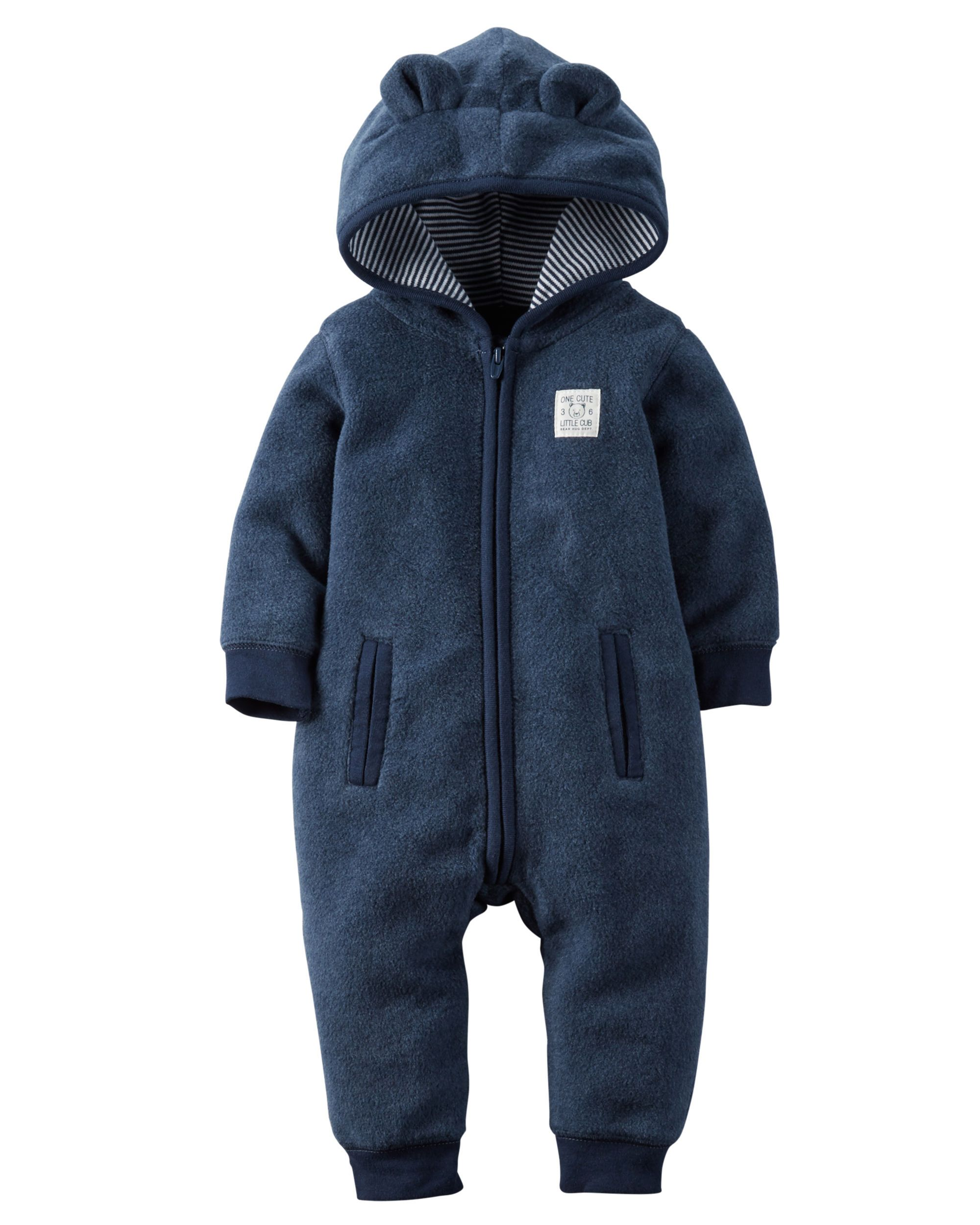 05b0dbf9c7dd Baby Boy Hooded Fleece Jumpsuit from Carters.com. Shop clothing ...